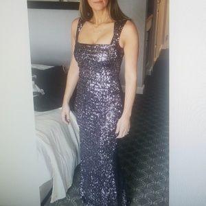Nicole Miller sequin purple gown
